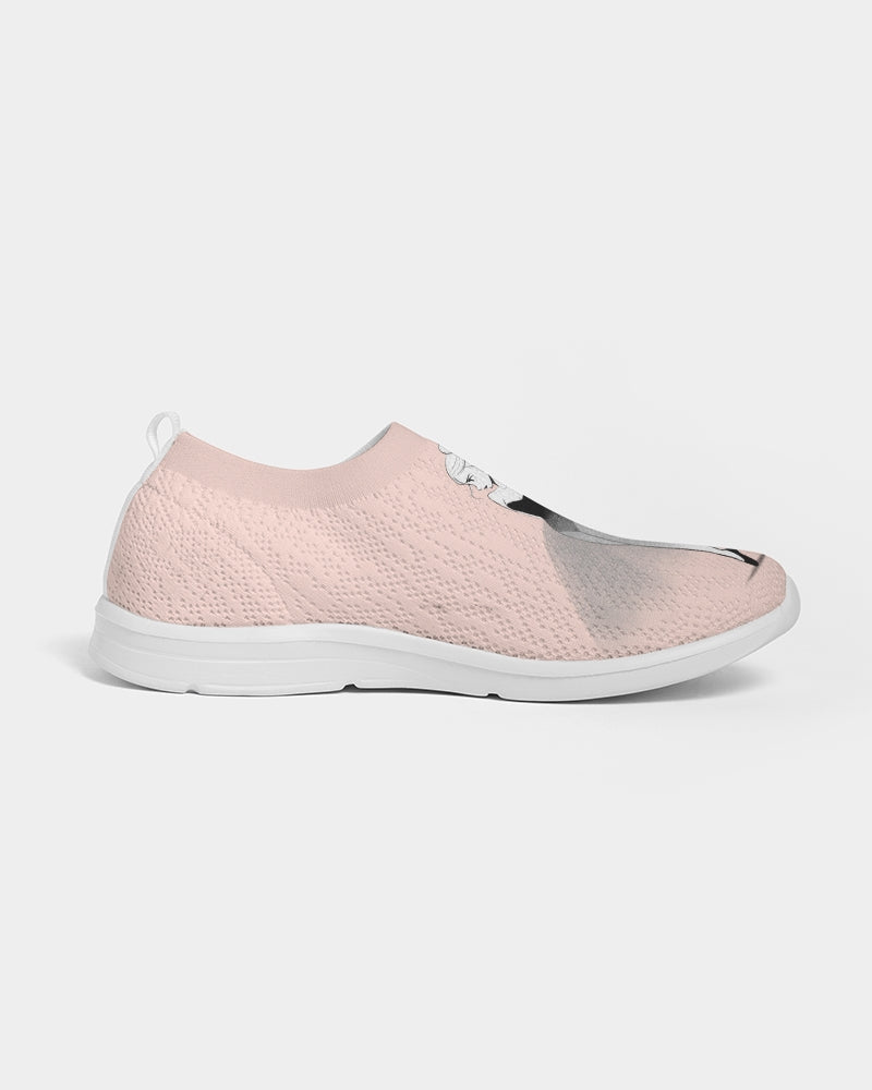 DOLLY DOODLING Ballerina Ballet Blush Pink Women's Slip-On Flyknit Shoe