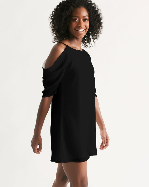 DOLLY BLACK Women's Open Shoulder A-Line Dress