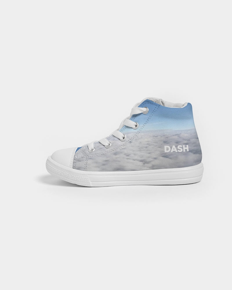 DASHICALLY BLUE Kids Hightop Canvas Shoe