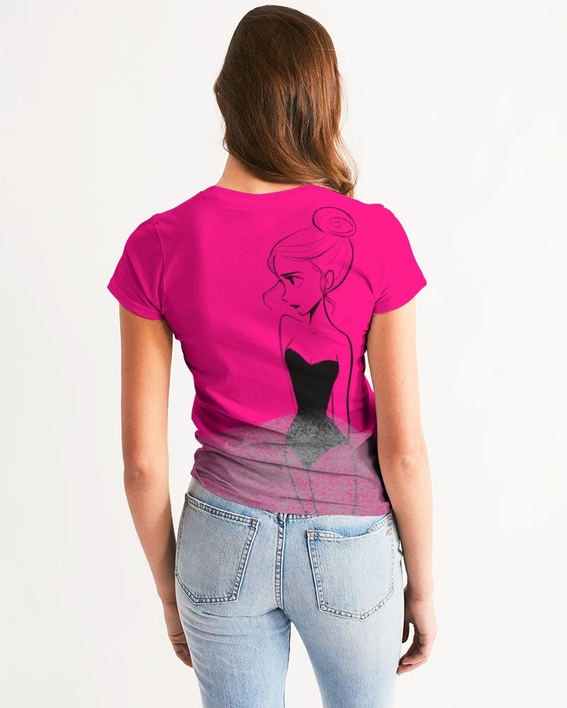 DOLLY DOODLING Ballerina Pure Pink Women's Tee