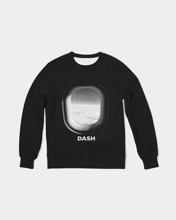 DASH AWAY PLANE WINDOW Men's Classic French Terry Crewneck Pullover