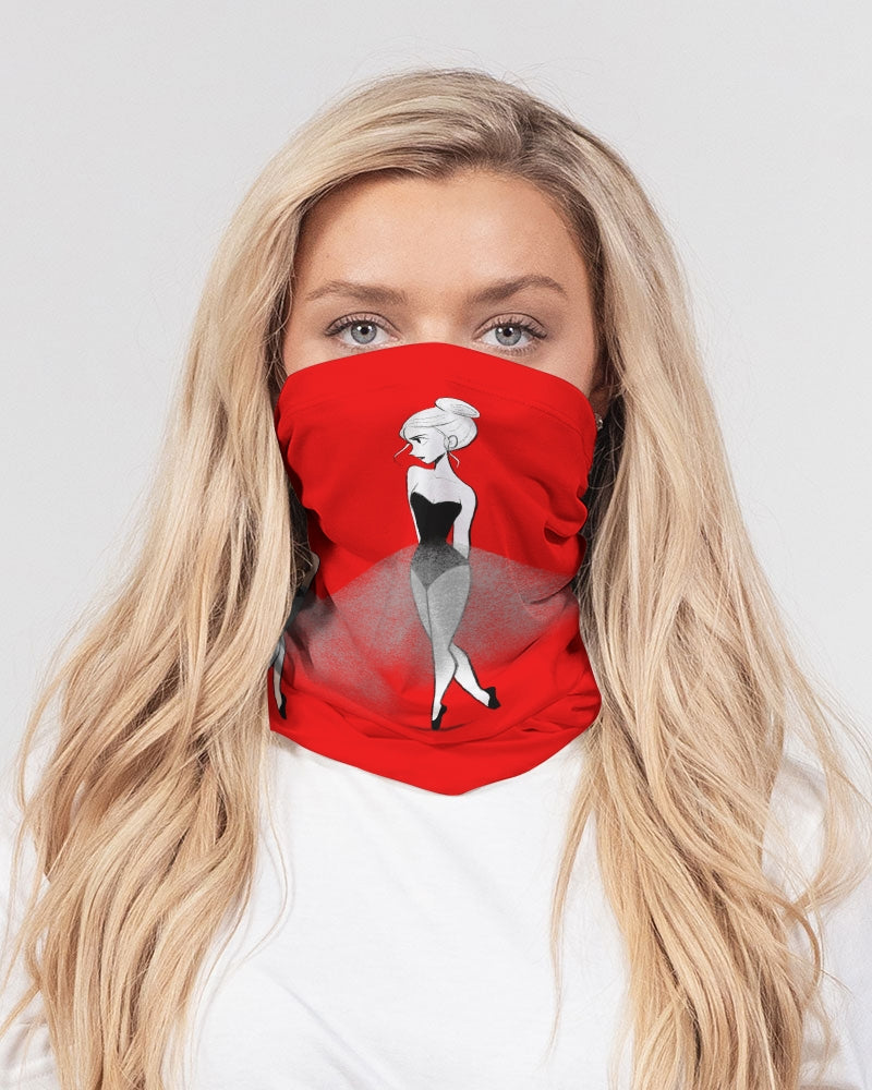 DOLLY DOODLING REALLY RED Neck Gaiter Set