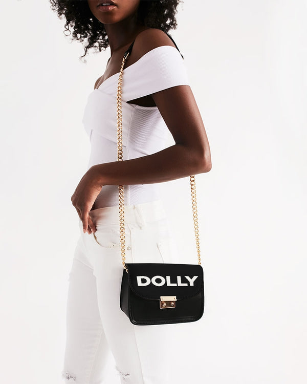 DOLLY LOGO BLACK Small Shoulder Bag