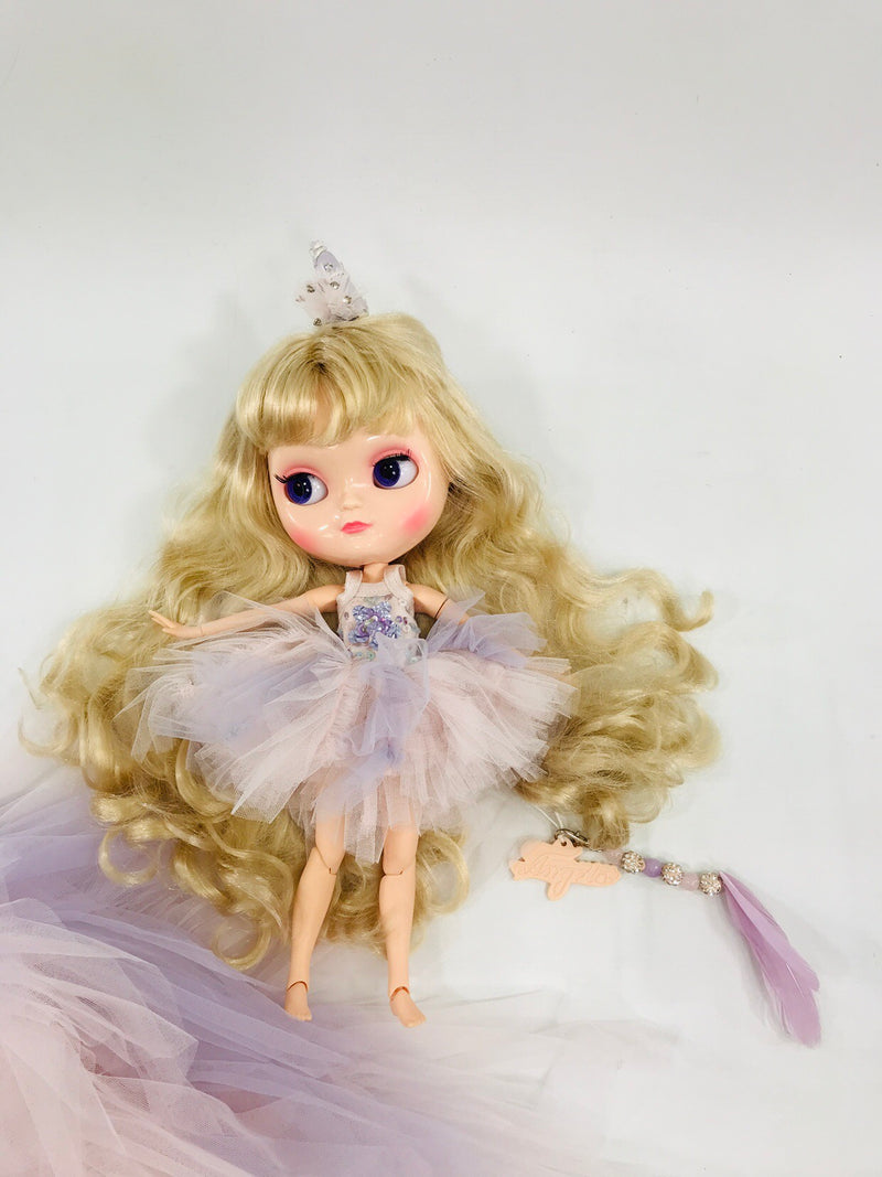 ANGELA Doll PULL CHARMS UNICORN WITH FEATHER-dolls-DOLLY by Le Petit Tom ®