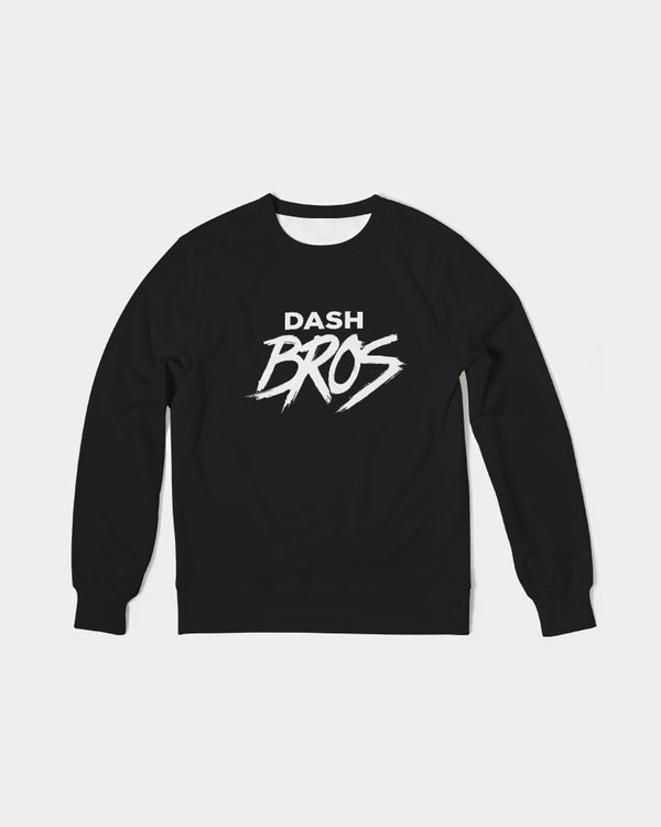 DASH BROS Men's Classic French Terry Crewneck Pullover