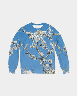 DASH GOGH REAL BLUE Men's Classic French Terry Crewneck Pullover
