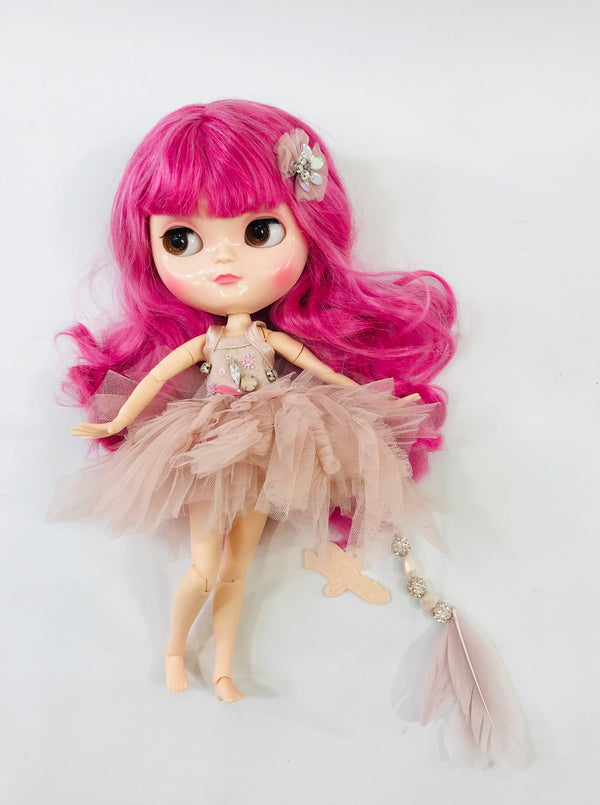 ANGELA Doll PULL CHARMS FLAMINGO