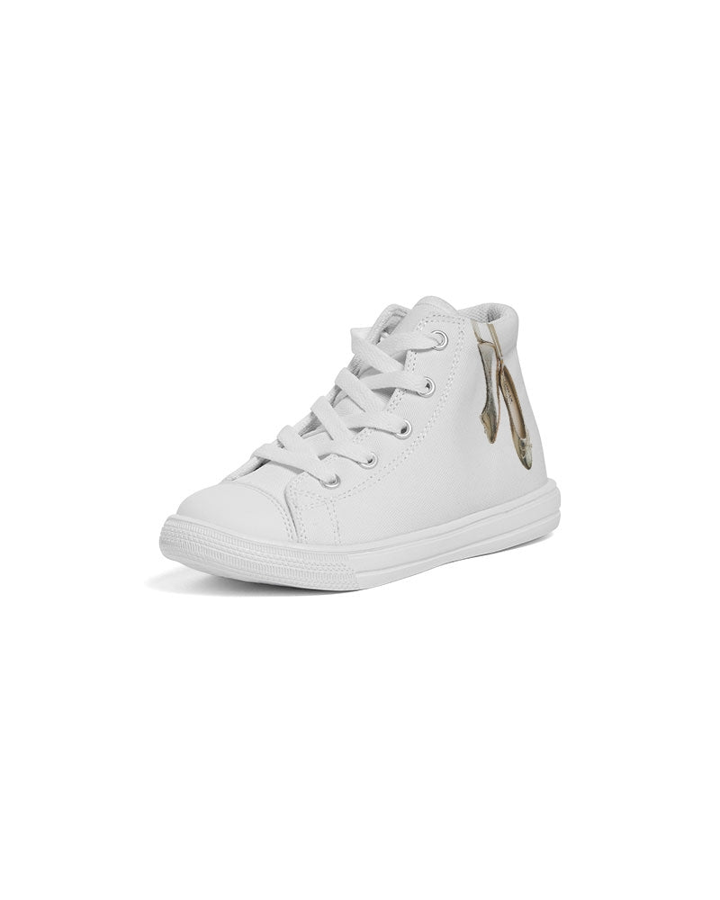 GOLD BALLERINAS Kids Hightop Canvas Shoe