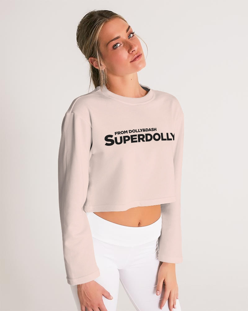 SUPERDOLLY. ballet pink Women's Cropped Sweatshirt