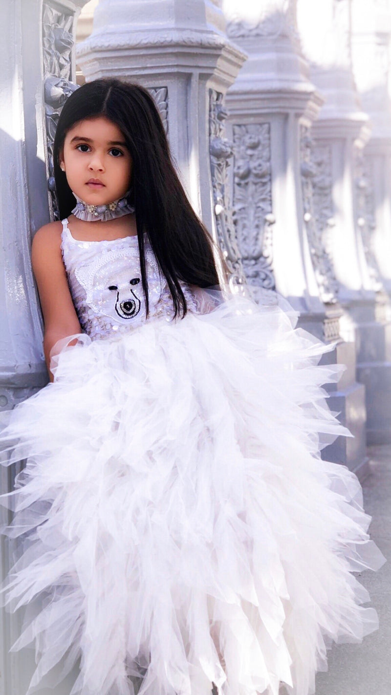 DOLLY by Le Petit Tom ® ICE BEAR tutu dress white