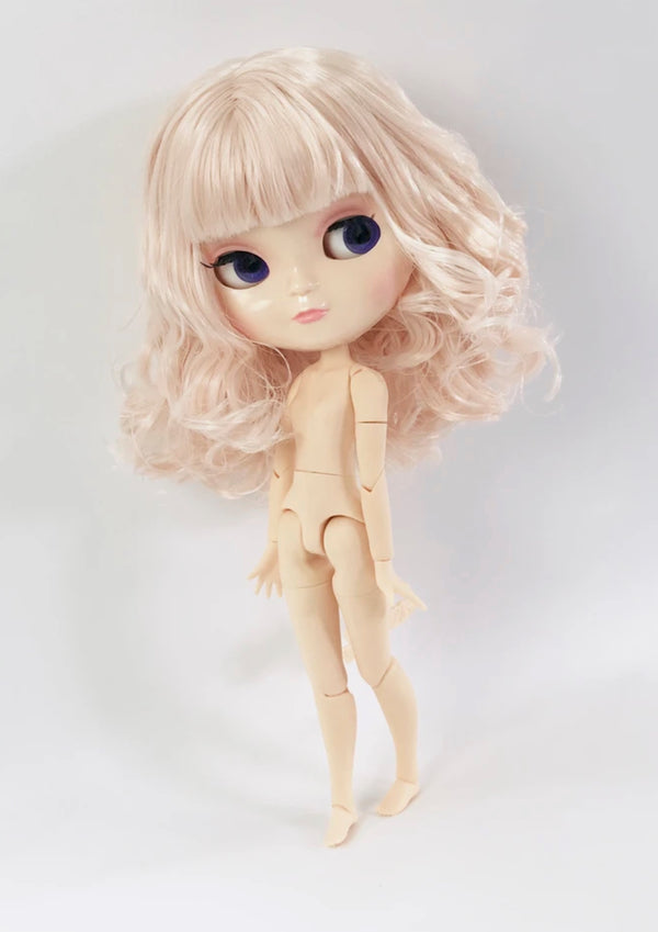 ANGELA Doll ICY doll HALF LONG HAIR LIGHT PINK + Dolly Lacy Fashion & bag