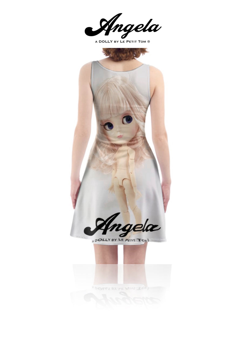 [OUTLET] ANGELA DOLLY SKATER DRESS pink