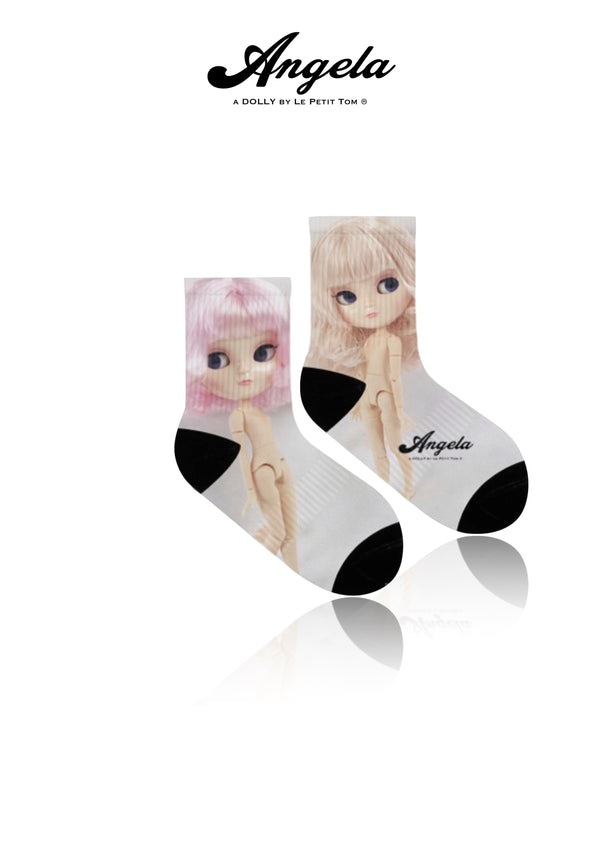 [OUTLET]  ANGELA DOLLY SOCKS full color