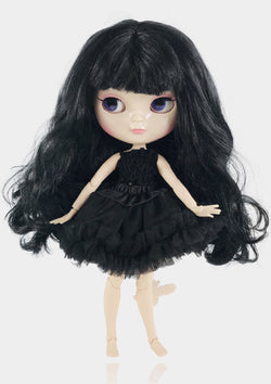 ANGELA Doll ICY doll BLACK incl. Dolly Fashion & Doll Carrier bag-dolls-DOLLY by Le Petit Tom ®