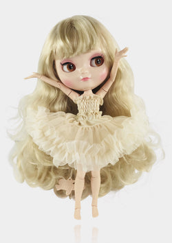 ANGELA Doll ICY doll BLONDE/ CREAM incl. Dolly Fashion & Doll Carrier bag-dolls-DOLLY by Le Petit Tom ®