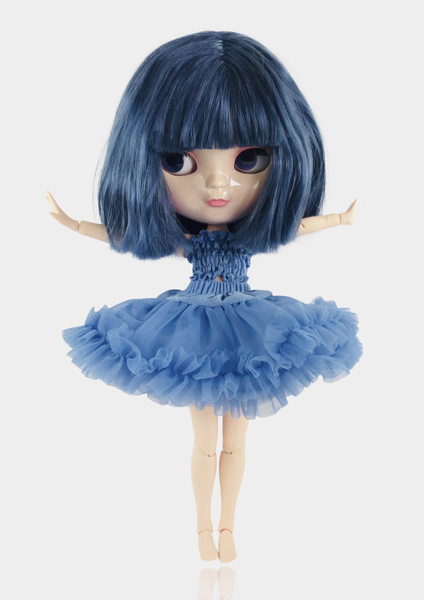 ANGELA Doll ICY doll MARQUESA BLUE incl. Dolly Fashion & Doll Carrier bag-dolls-DOLLY by Le Petit Tom ®