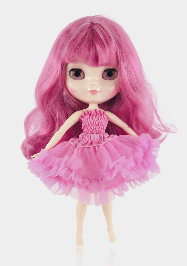 ANGELA Doll PINKEST PINK incl. Dolly Fashion & Doll Carrier bag