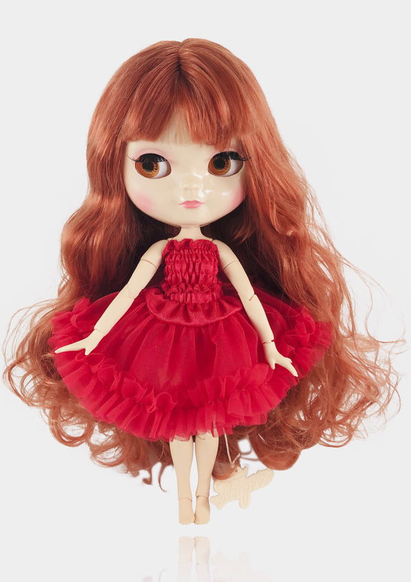 ANGELA Doll RED incl. Dolly Fashion & Doll Carrier bag