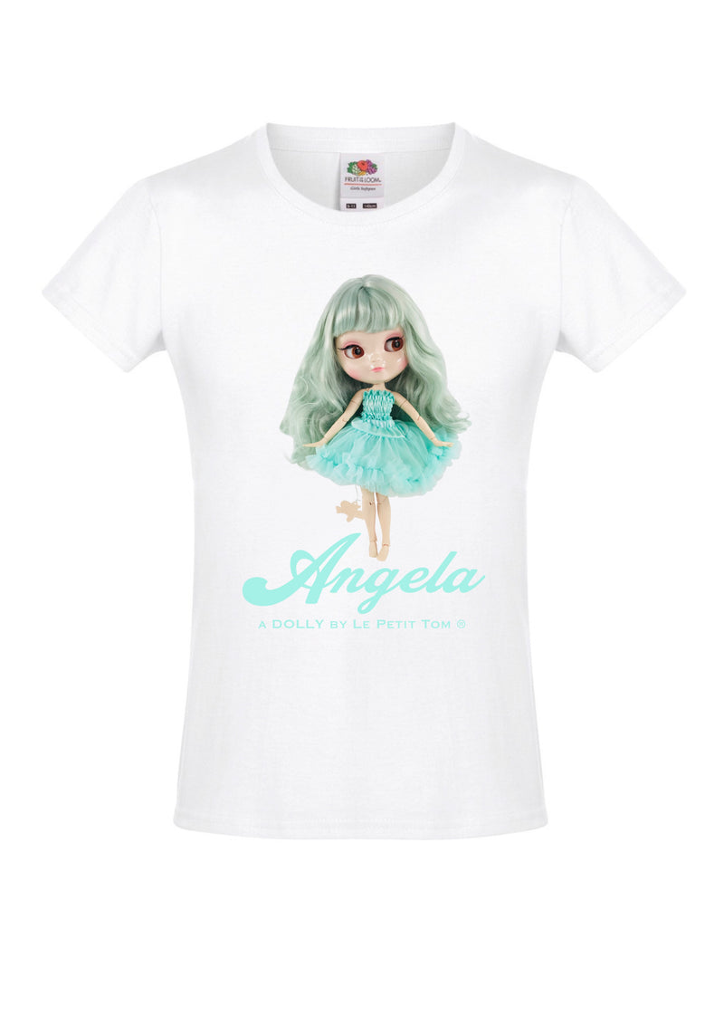 [ OUTLET1] ANGELA DOLLY by Le Petit Tom ® T-shirt Angela doll tiffany turquoise