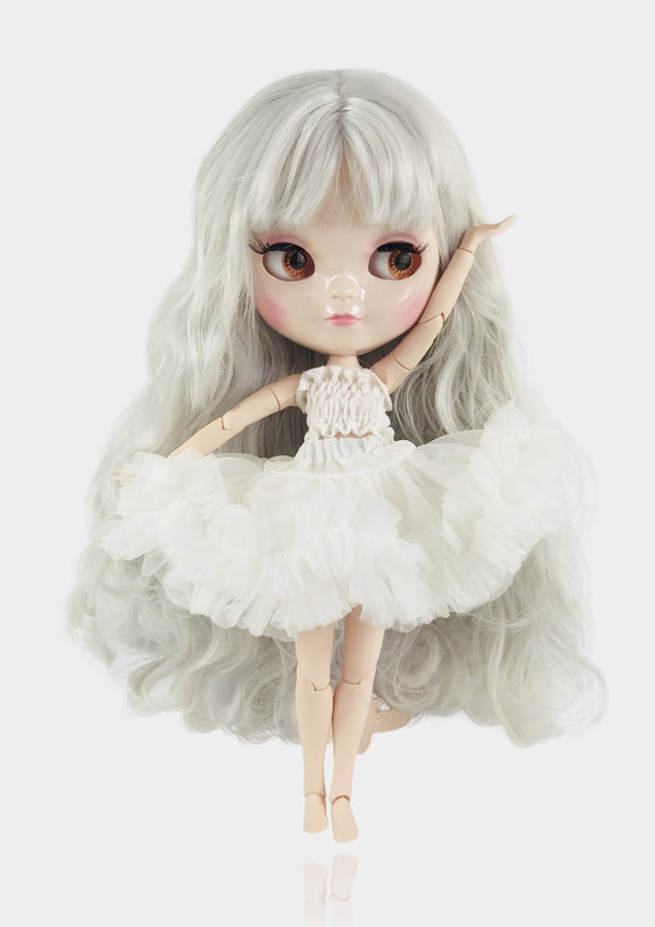 ANGELA Doll ICY doll WHITE incl. Dolly Fashion & Doll Carrier bag-dolls-DOLLY by Le Petit Tom ®