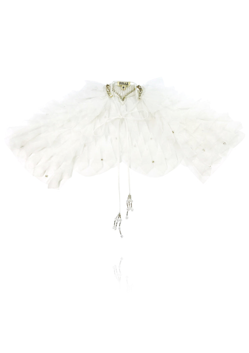 DOLLY by Le Petit Tom ® ANGELS 3D angel wing cape white - DOLLY by Le Petit Tom ®