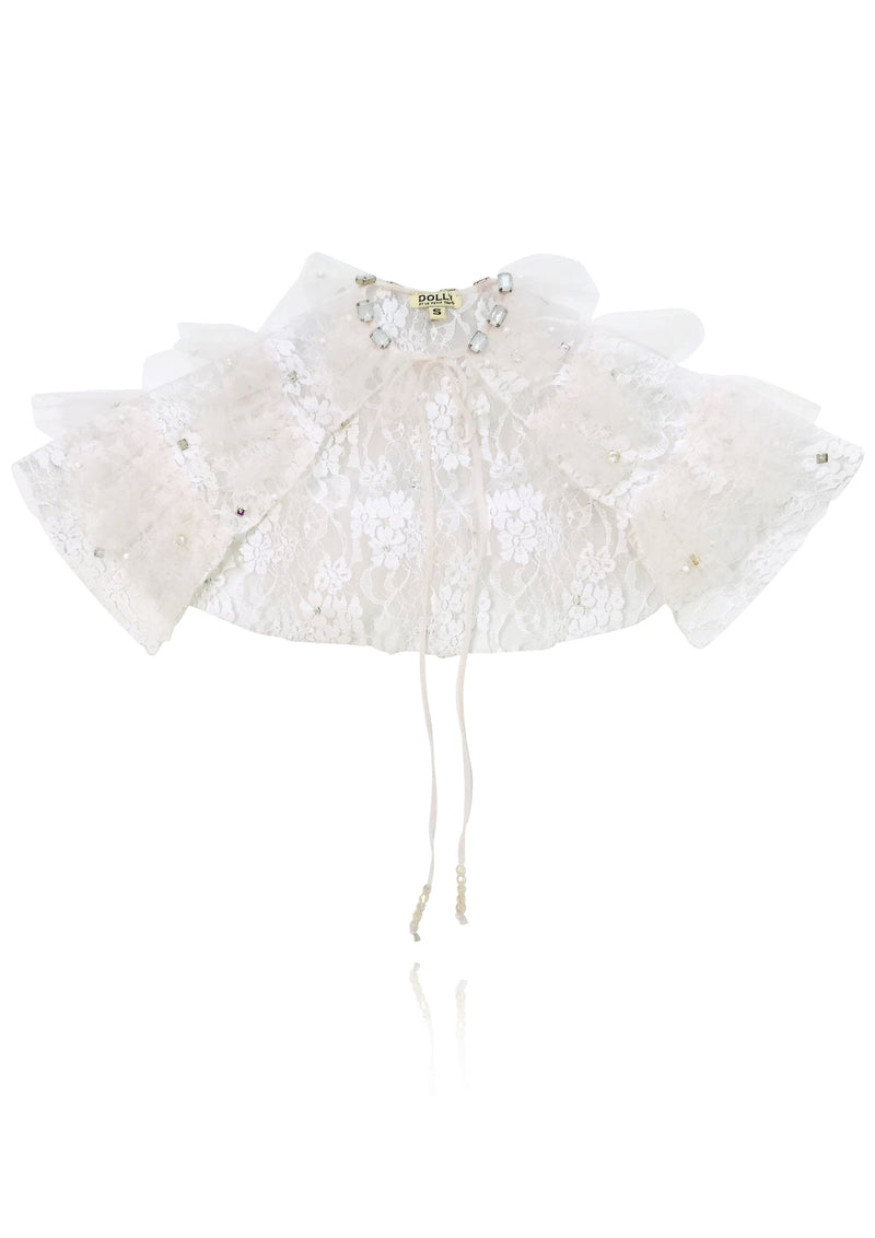 DOLLY by Le Petit Tom ® ANGELS lace angel cape white ballet pink - DOLLY by Le Petit Tom ®