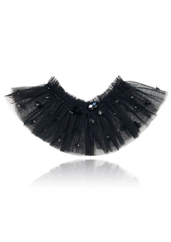 DOLLY by Le Petit Tom ® ANGELS neck ruffle black - DOLLY by Le Petit Tom ®
