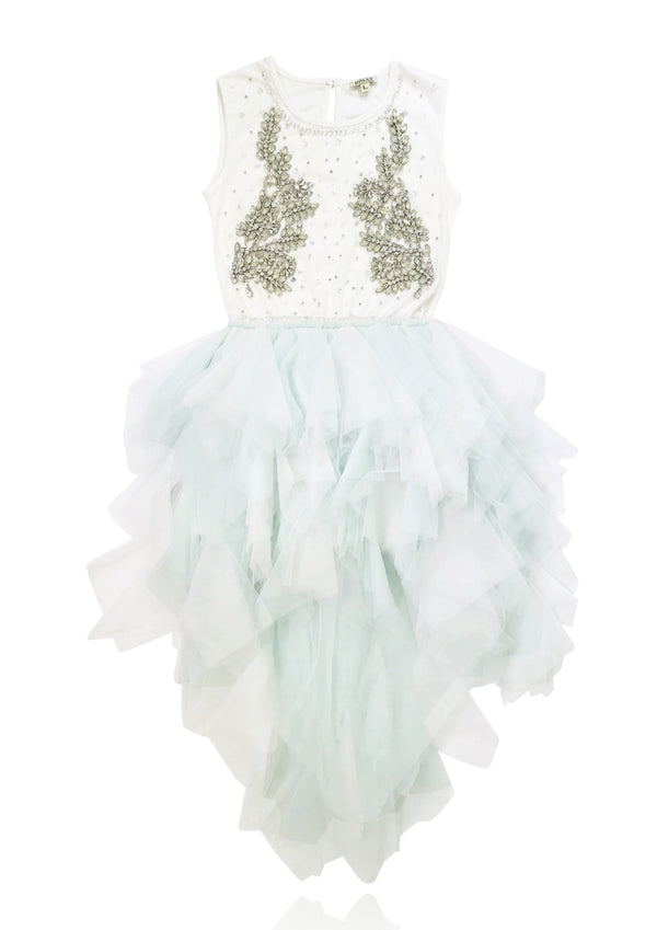 DOLLY by Le Petit Tom ® THE SKY ANGEL tutu dress light blue - DOLLY by Le Petit Tom ®