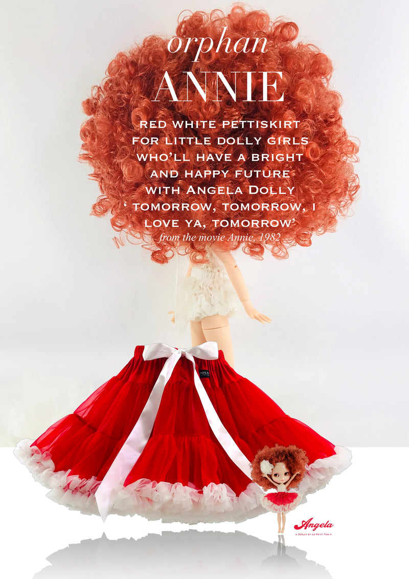 DOLLY by Le Petit Tom ® ANNIE pettiskirt red with white