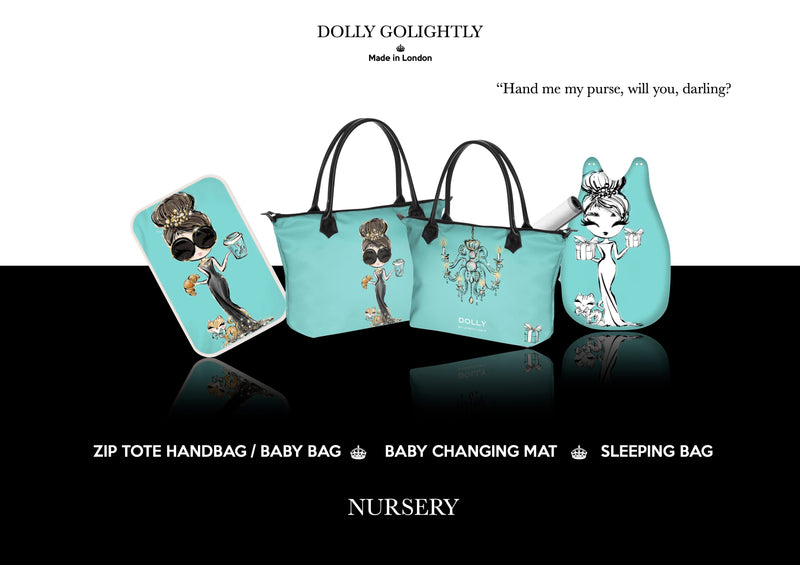 DOLLY GOLIGHTLY BABY CHANGING MAT Tiffany blue