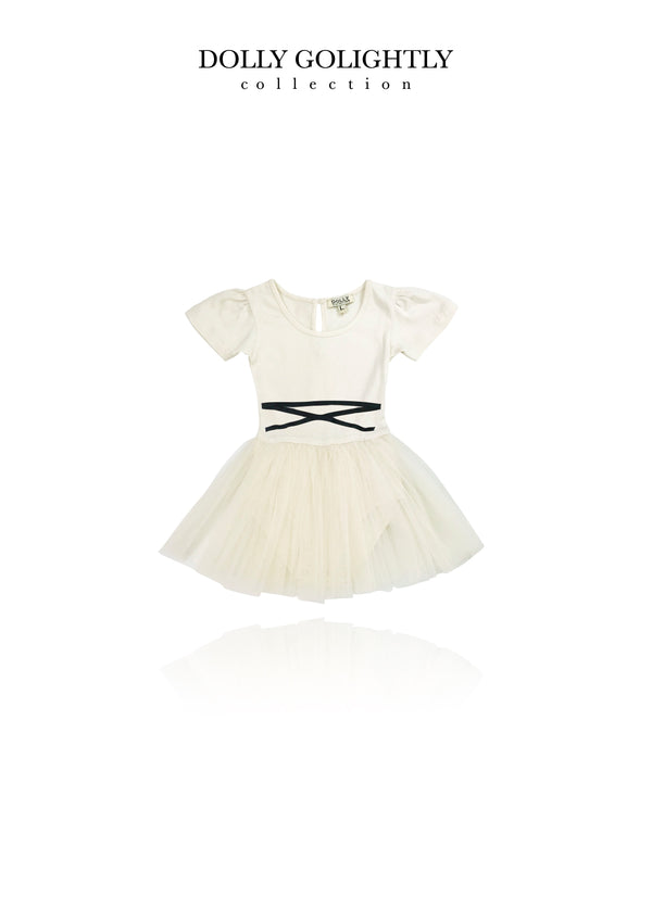 [ OUTLET] DOLLY GOLIGHTLY TULLE BABY ROMPER LACE UP WAIST I ♥coffee