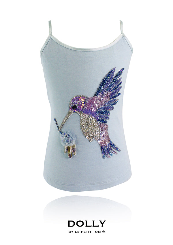 DOLLY by Le Petit Tom ® BLUE BIRD top light blue - DOLLY by Le Petit Tom ®