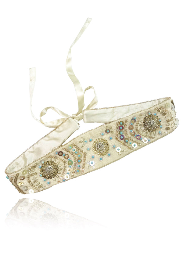 DOLLY by Le Petit Tom ® BOHO belt turquoise - DOLLY by Le Petit Tom ®