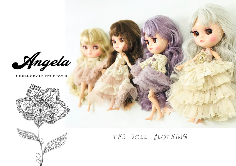 [ OUTLET] ANGELA Doll clothing DOLLY's BOHO MAXI SKIRT BALLET PINK