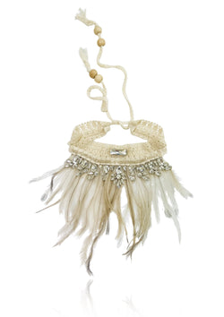 DOLLY by Le Petit Tom ® BOHO feather necklace - DOLLY by Le Petit Tom ®