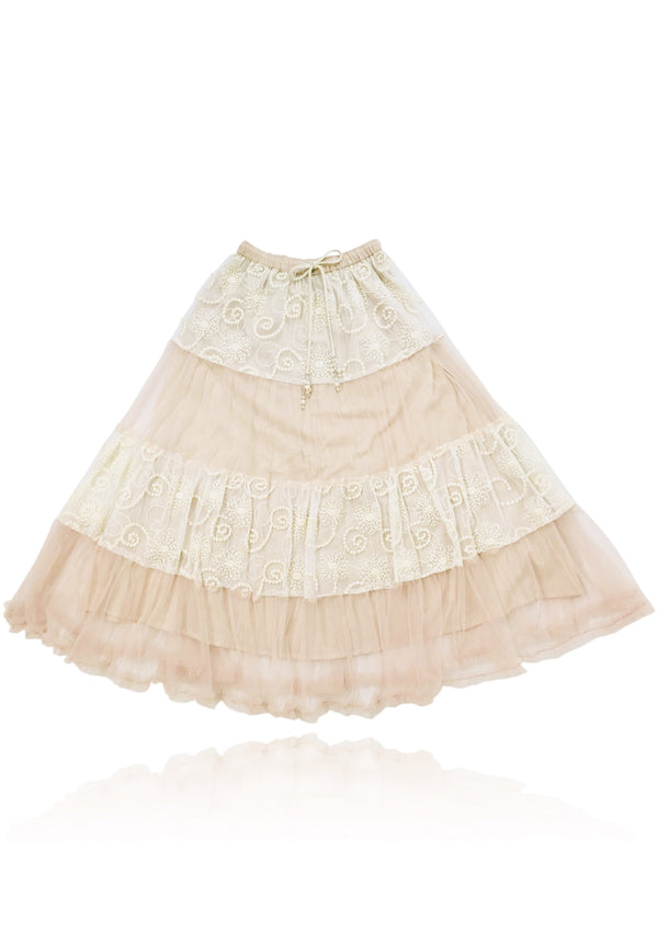 DOLLY by Le Petit Tom ® BOHO maxi skirt ballet pink - DOLLY by Le Petit Tom ®