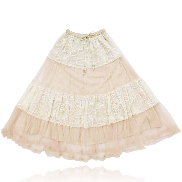 a03771181f DOLLY by Le Petit Tom ® BOHO maxi skirt ballet pink