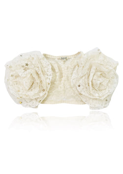 DOLLY by Le Petit Tom ® BOHO rosette shrug - DOLLY by Le Petit Tom ®