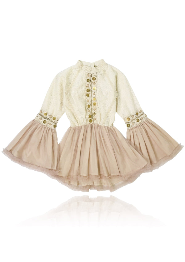 DOLLY by Le Petit Tom ® BOHO trumpet top dress ballet pink - DOLLY by Le Petit Tom ®