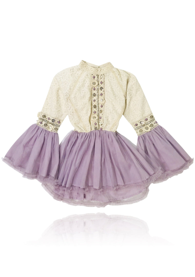DOLLY by Le Petit Tom ® BOHO trumpet top dress violet - DOLLY by Le Petit Tom ®