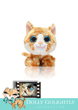 DOLLY GOLIGHTLY Breakfast @ Tiffany's ginger 'CAT' plush toy collectible