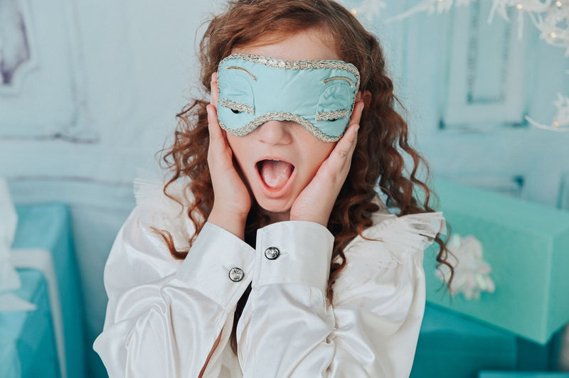 DOLLY GOLIGHTLY Breakfast @ Tiffany's SLEEP MASK tiffany blue
