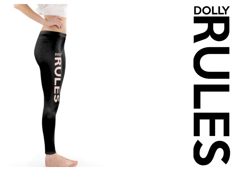DOLLY FACE LEGGINGS 'Dolly Rules' black