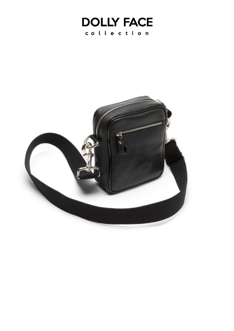 [OUTLET] DOLLY FACE SMALL SHOULDER MESSENGER BAG black