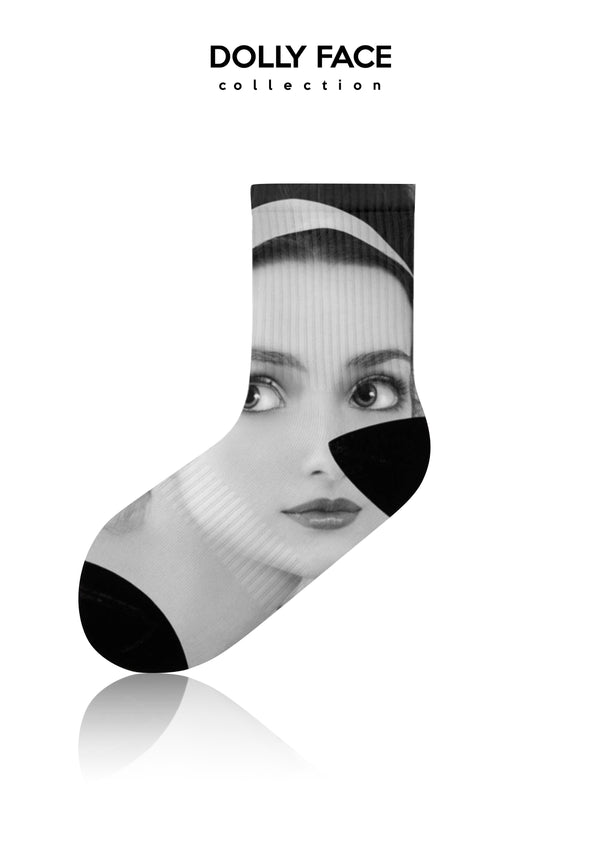 DOLLY FACE SOCKS ballet pink