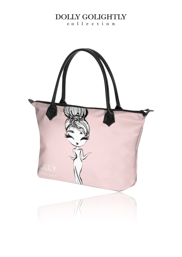 DOLLY GOLIGHTLY HANDBAG ZIP TOP / BABY BAG ballet pink