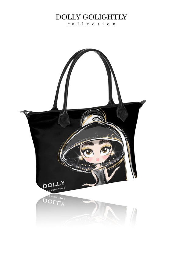 DOLLY GOLIGHTLY HANDBAG ZIP TOP / BABY BAG luxury black