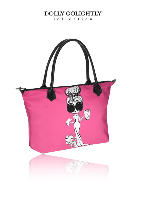 DOLLY GOLIGHTLY HANDBAG ZIP TOP / BABY BAG Golightly pink