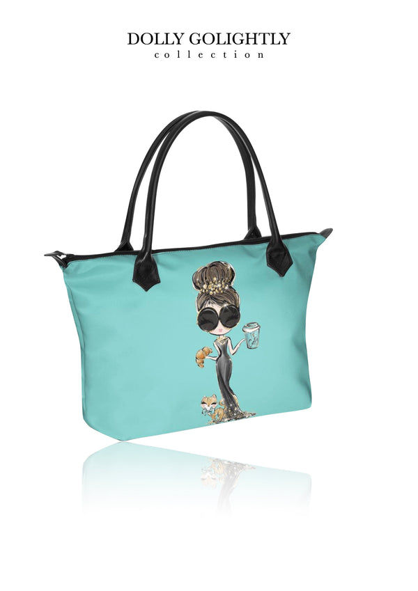 DOLLY GOLIGHTLY HANDBAG ZIP TOP / BABY BAG Tiffany blue