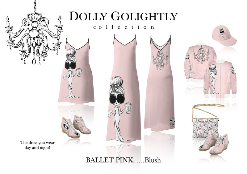 DOLLY GOLIGHTLY LEATHER CROSSBODY BAG ballet pink